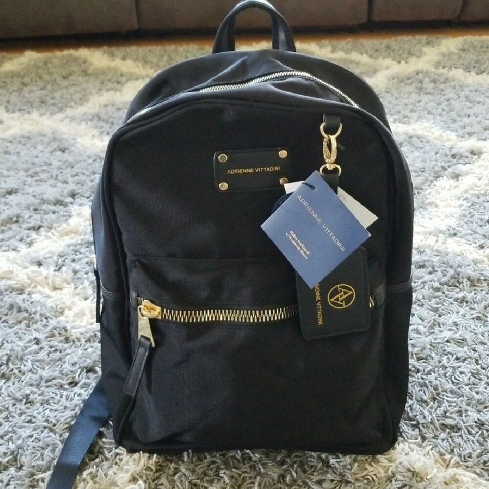 b8d6bc4b8319 Details about Adrienne Vittadini Nylon Backpack NEW with Tags Authentic  215
