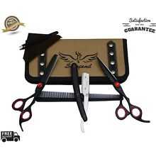2pc Stainless Steel Hair Cuting+Thinning Scissors Barber Shears Hairdressing Set