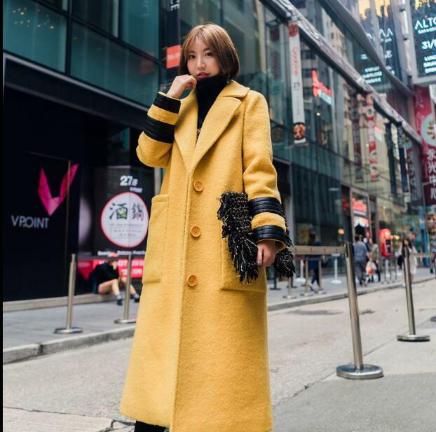 2e79433f14 Details about 2018 Womens European Lady Oxford Wool Blend Parka Trench Winter  Long Overcoat