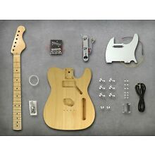 DIY Telecaster Guitar Unfinished Electric Guitar Kit Basswood Body Maple Neck