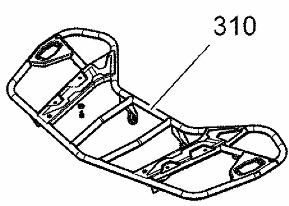 Can Am Black Front Luggage Rack 705006887 New Oem 733556142398