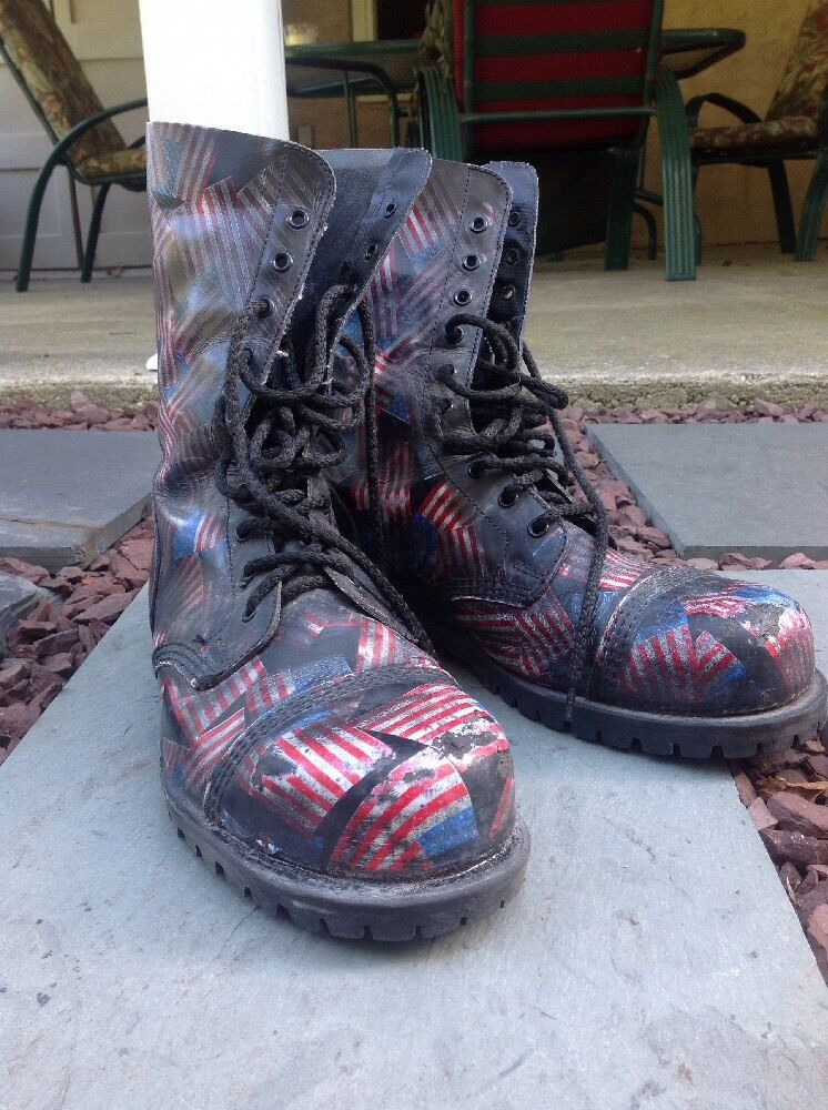 37af32358e1f Details about MENS Size 10 EYELET STEEL CAP UNDERGROUND BOOT – AMERICAN  FLAG LEATHER