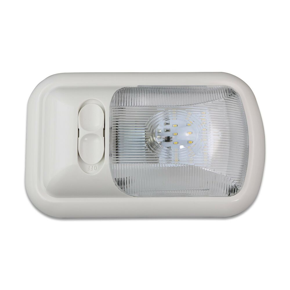 Details About 1 New Rv Led 12v Ceiling Fixture Single Small Dome Light Camper Trailer Marine