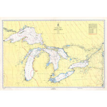 1955 Nautical Map of The Great Lakes
