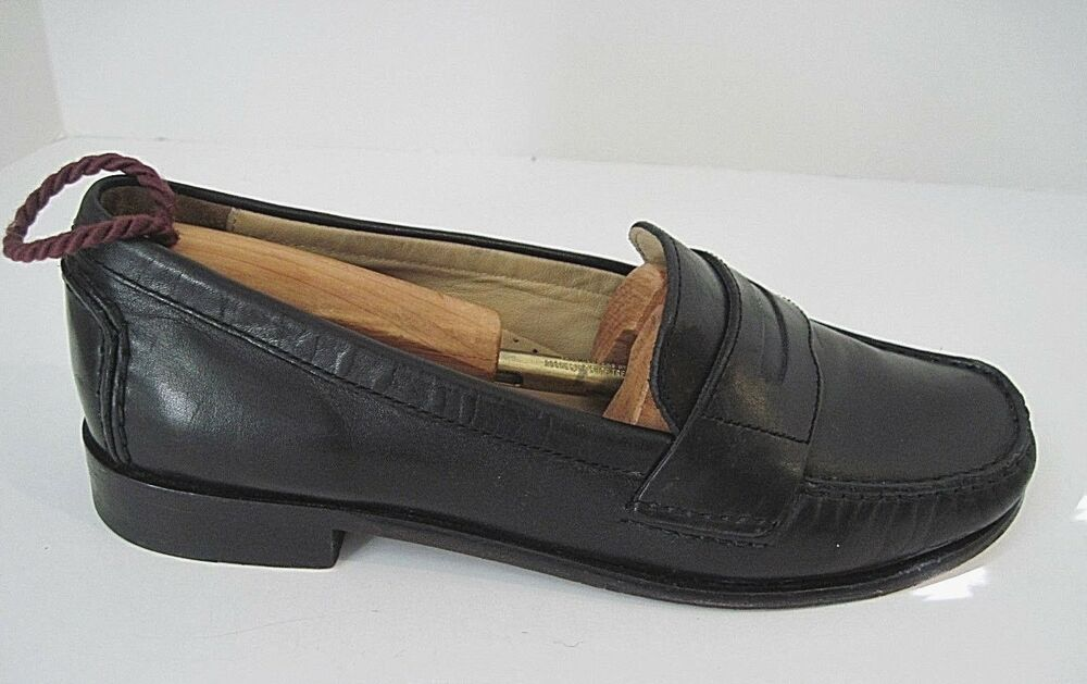 8770403cad3 Details about Cole Haan Classic Pinch Black Leather Slip-On Penny Loafer  Womens Size 7B