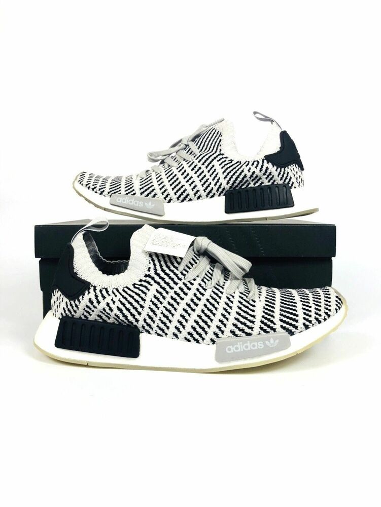 d8c134655 Details about Adidas NMD R1 STLT PK Primeknit Boost Grey Two One Core Black  White Men s CQ2387
