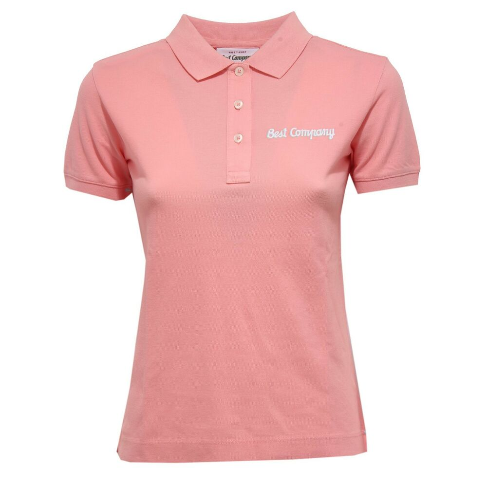 5310x Polo Donna Best Company Maglia Pink Polo T Shirt Woman Ebay