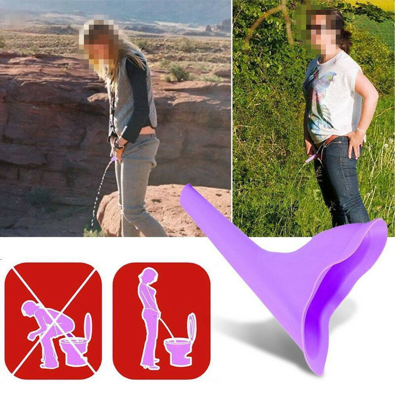 Ladies Urine She Female Portable Stand Up Pee Woman Female Urinal Funnel Travel  Ebay-2786