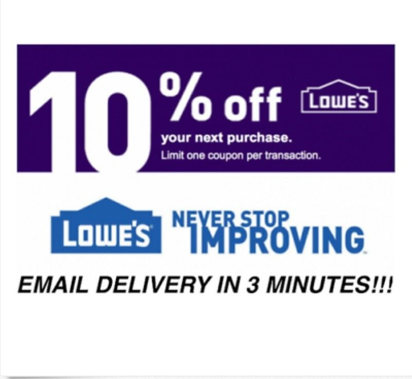 1x LOWES IN-STORE /& ONLINE $10 OFF $50 DISCOUNT PROMO CODE 1COUPONS EXP 11//30//18