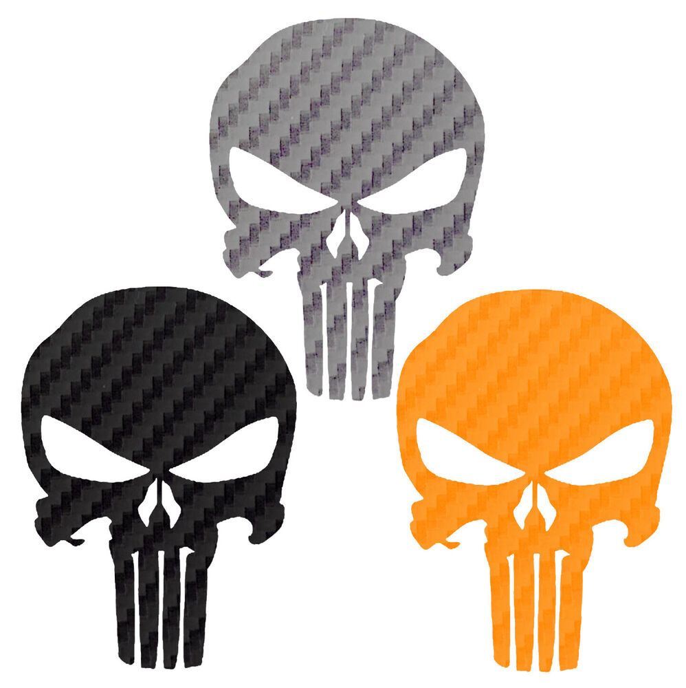 Punisher carbon fiber decal buy 1 get 1 free every quantity punisher sticker ebay