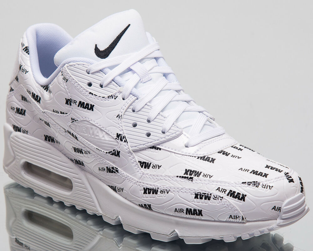 purchase cheap a5480 9a548 Details about Nike Air Max 90 Premium Lifestyle Shoes White Black 2018  Sneakers 700155-103