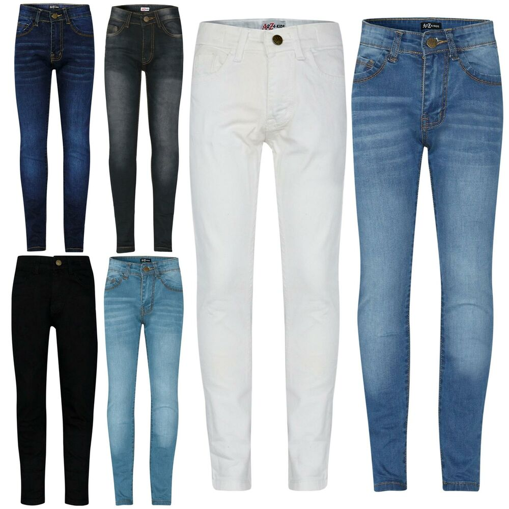 48f5908686115 Kids Girls Skinny Jeans Designer Denim Stretchy Pants Fit Trouser New Age 5-13Yr  Clothes, ...