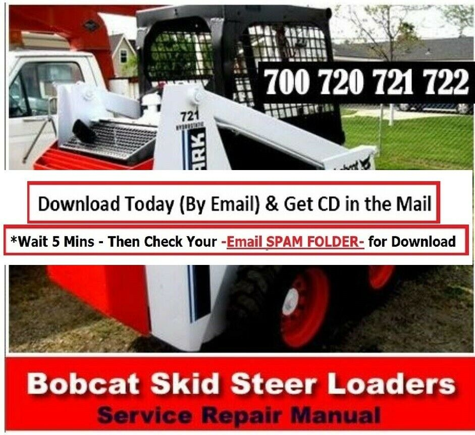 Bobcat 700 720 721 722 SkidSteer Loader Service Manual Shop Repair Skid  Steer | eBay
