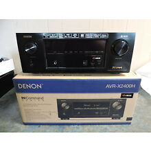 Denon AVR-X2400H 7.2 Channel Full 4K Ultra HD Network AV Receiver HEOS Atmos