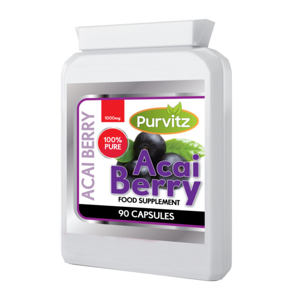 Acai Berry Pillole Alto Tenore Estremo 1000mg 90 Bottiglia UK Purvitz