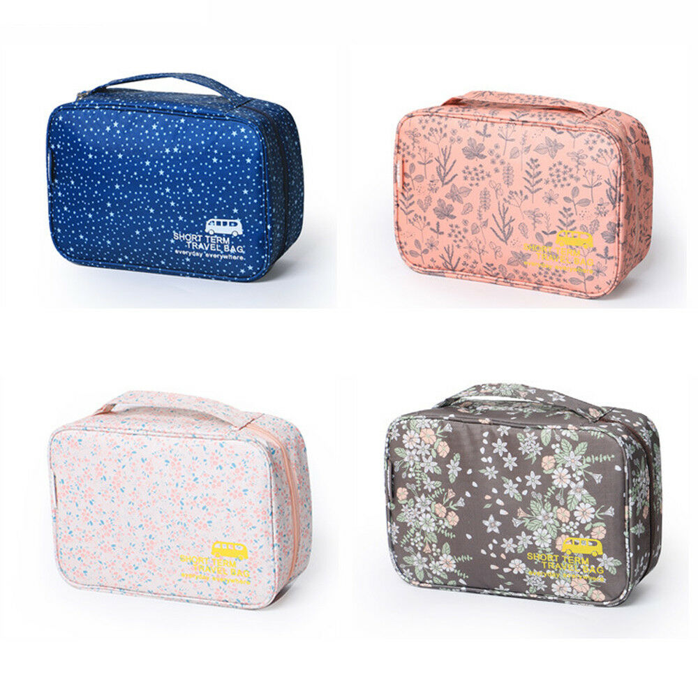 2f948aebfa Details about Multi-function Makeup Cosmetic Bag Toiletry Travel Kit  Organizer Zipper Wash Bag