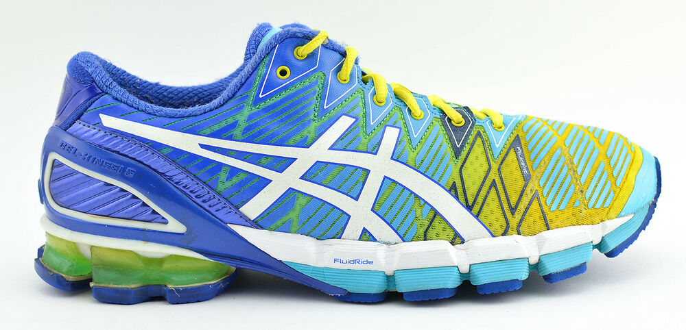 timeless design 7d13b 91f87 Details about WOMENS ASICS GEL KINSEI 5 RUNNING SHOES SIZE 11 BLUE YELLOW  WHITE GREEN T3E9Y