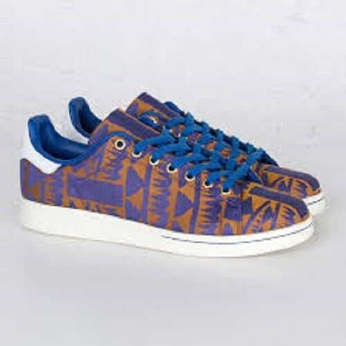 half off a3a8a 1ef8b Details about Adidas Originals Stan Smith Casual Walking Shoes Blue Gold  Men s Sz 8-13 S75121