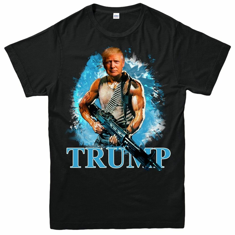 9302fea3 Details about DONALD TRUMP T SHIRT RAMBO PUN USA AMERICAN PRESIDENT UNISEX  ADULT KIDS TEE TOP