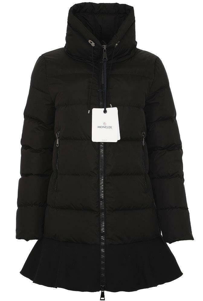 Details about NEW MONCLER VIBURNUM BLACK NYLON GOOSE DOWN PARKA PUFFER JACKET  COAT 3 46 M L a760f6d9377