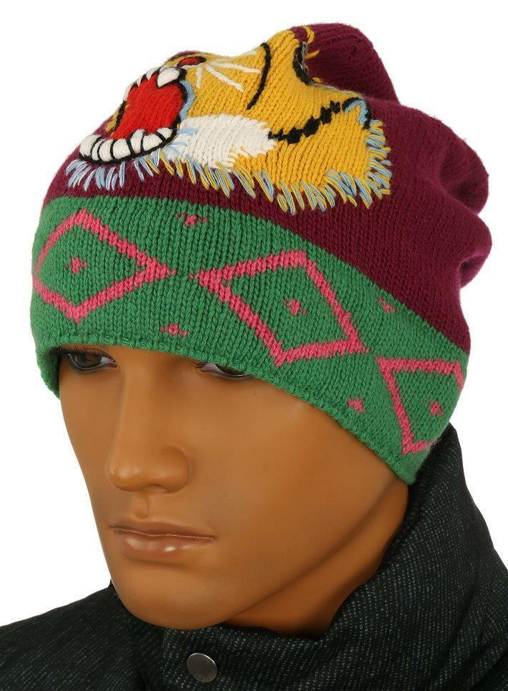 47c163f8c Details about NEW GUCCI LUXURY CURRENT COLLECTION TIGER KNIT WOOL BEANIE HAT  58 M MEDIUM