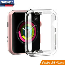 For Apple Watch Series 2 3 42MM Clear Case Screen Protector Slim Full Body Cover