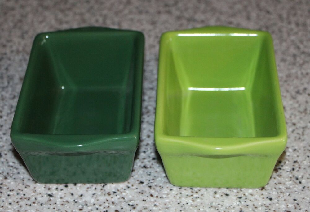 Two Mini Loaf Pans Celebrate It Stoneware Ceramic Bread
