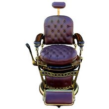 1920s Emil J. Paider Barber Chair, Fully Restored