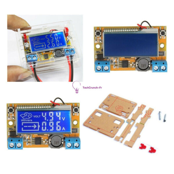 DC-DC Adjustable Step-down Power Supply Module Voltage Current LCD Display+case