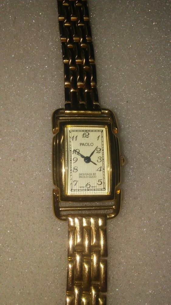 1c98357bed1 Paolo Gucci Gold Toned Women s Wrist Watch Japan (PA 1003 195) stainless  steel