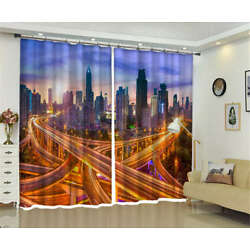 Complicated Traffic 3D Curtains Blockout Photo Printing Curtains Drape Fabric