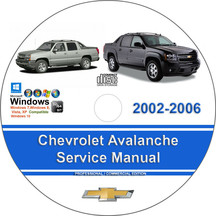 Chevrolet Avalanche 2002 2003 2004 2005 2006 Factory Service Repair Manual  | eBay