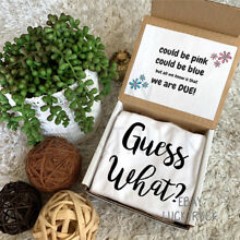 Guess What Box Pregnancy Reveal Announcement Custom Baby Photography Gift