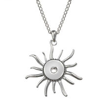 Sun Style Snaps Buttons Jewelry Pendant With Chain For 18mm Snaps Charm