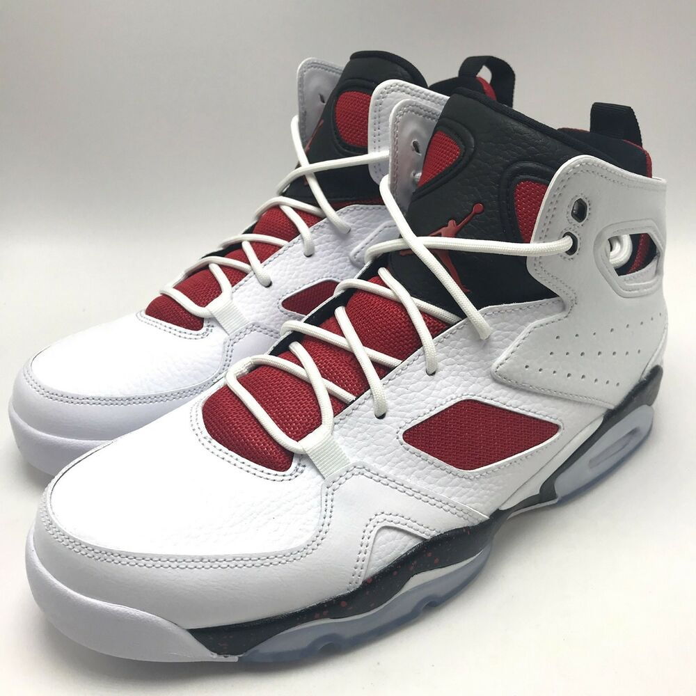 98ea8e2f063 Details about Nike Jordan FLIGHT CLUB  91 Men s Basketball White   Gym Red- Black 555475-121