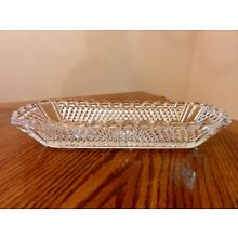 Antique French BACCARAT Late 19th Century Hand Cut Crystal Serving Dish 9 1/2