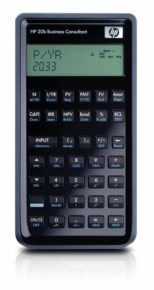 NEW HP 20b Business Consultant Financial Calculator ...