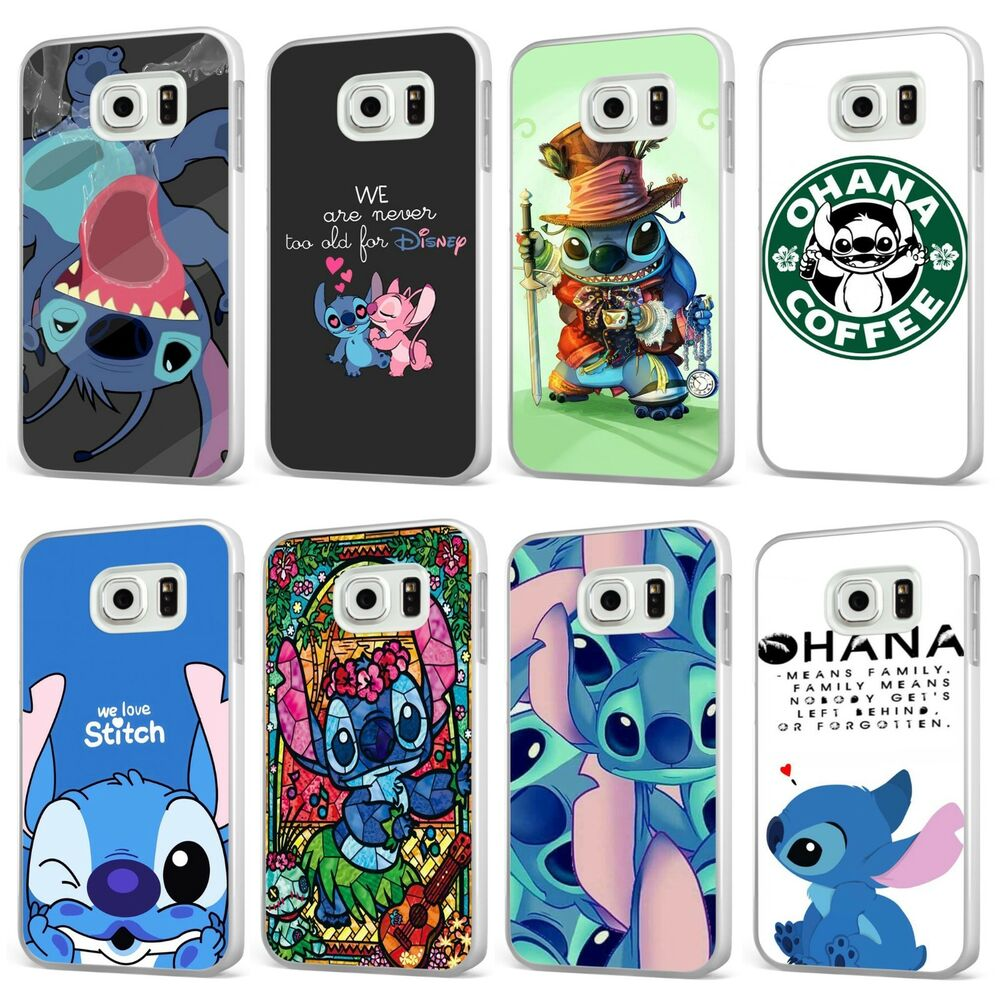 db9134528 Details about Lilo And Stitch Disney Ohana Family WHITE PHONE CASE COVER  for SAMSUNG GALAXY