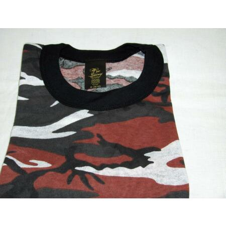 img-RED CAMOUFLAGE T-SHIRT MADE IN USA 50/50 POLY COTTON SIZES S,M,L,XL,2X,3X
