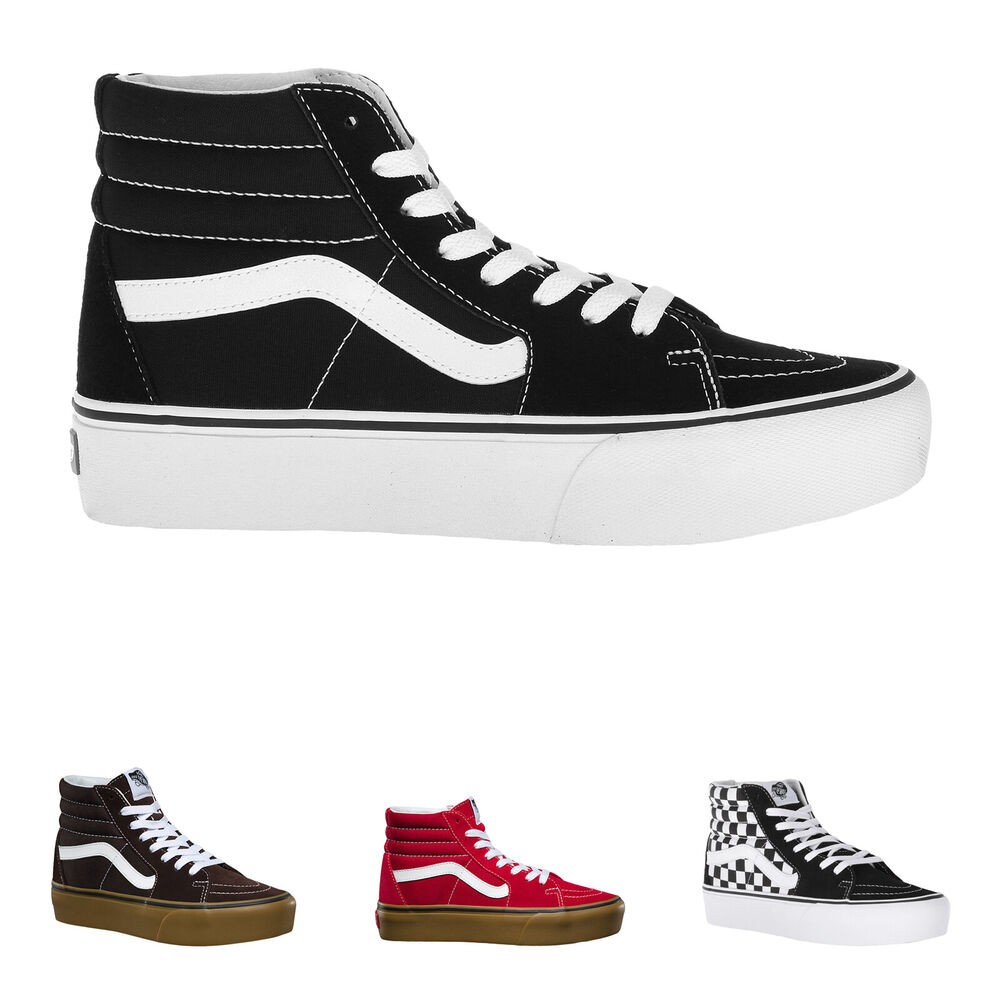 33ccde1e937a Details about Vans Sk8-Hi Platform 2 Suede Canvas Mens Womens High-top  Unisex Trainers