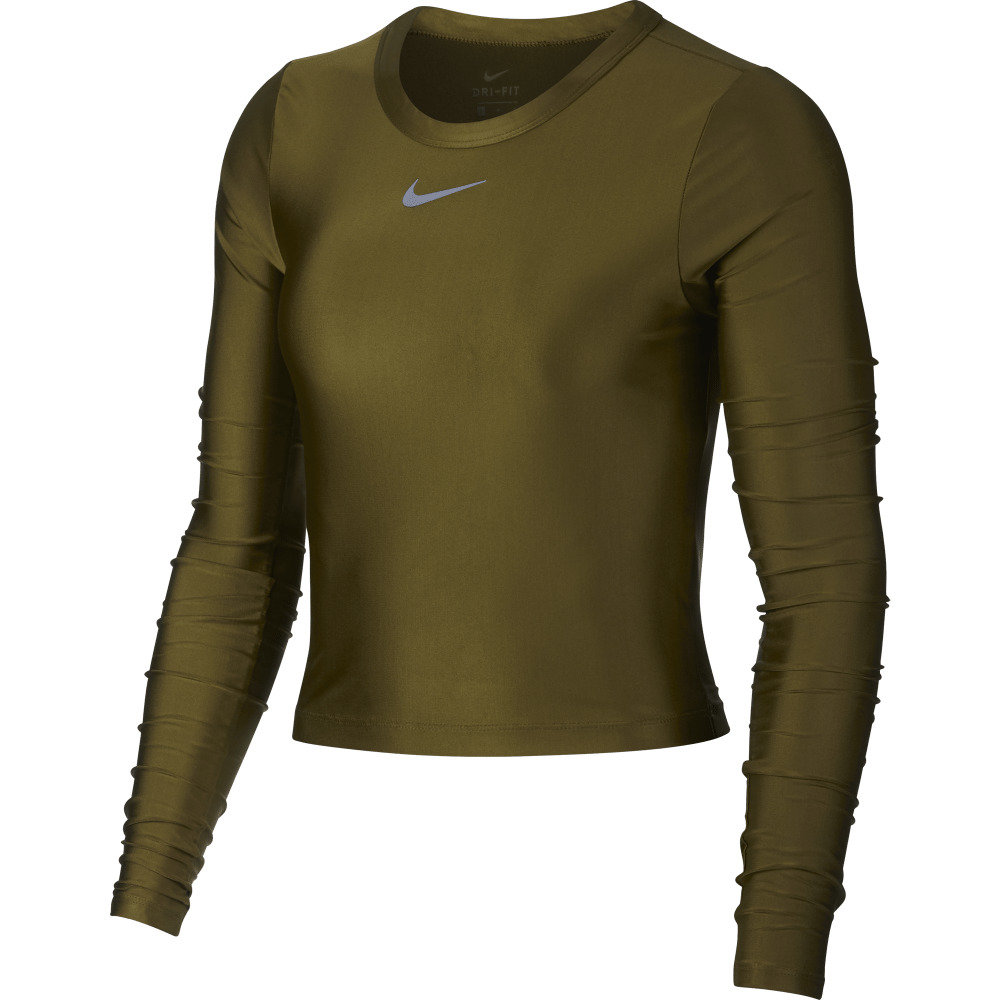 286b8aed38e5 Details about Women s Long-Sleeve Running Top Nike Speed AR1942 Sz S Gold