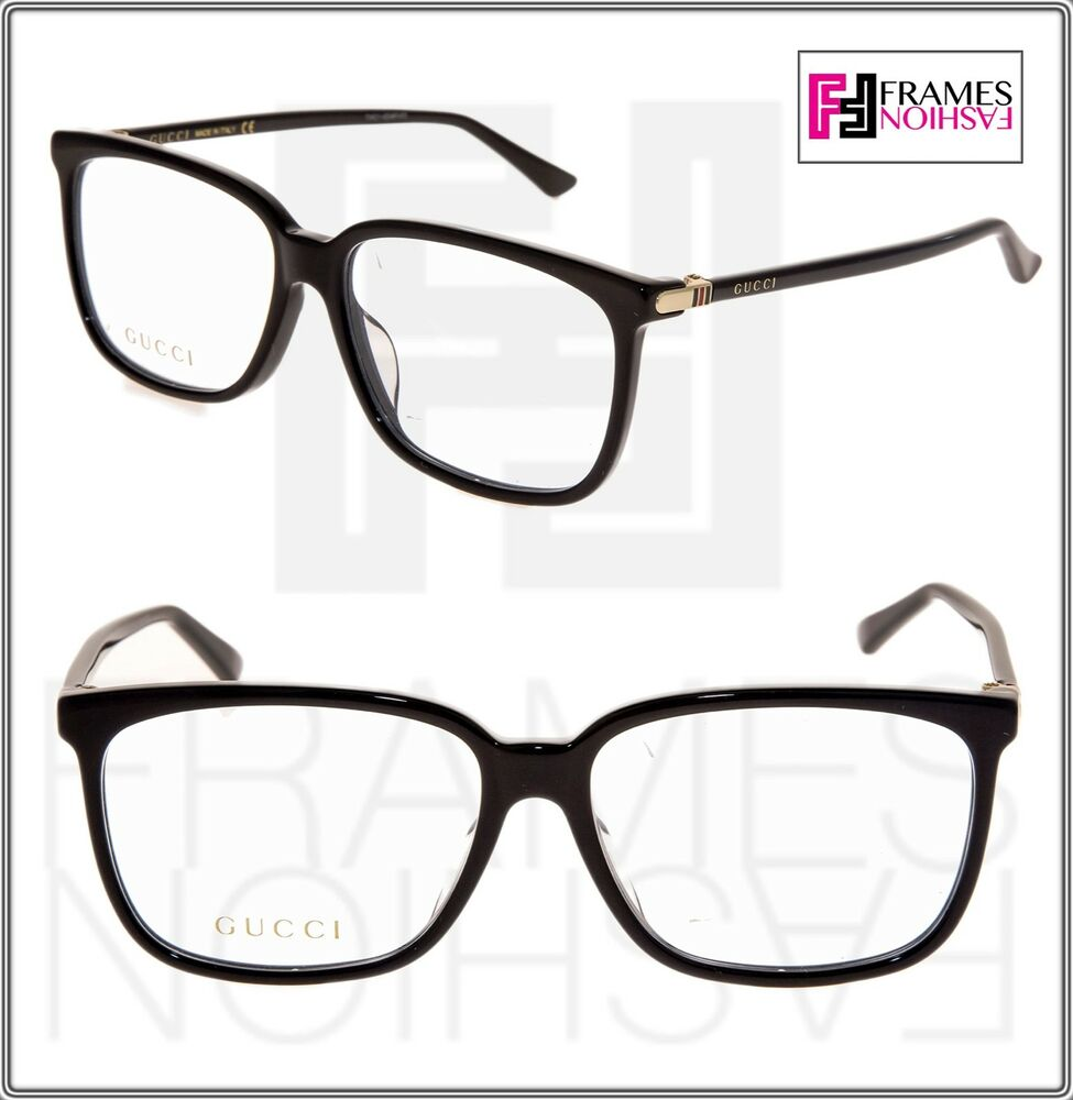 e02b368006e Details about gucci black gold square eyeglasses optical frame oa unisex  jpg 975x1000 Black gucci frames