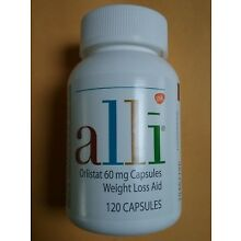 ALLI Weight Loss Caps, 120 Ct.,  Brand New Factory Sealed Bottle Free Shipping!!