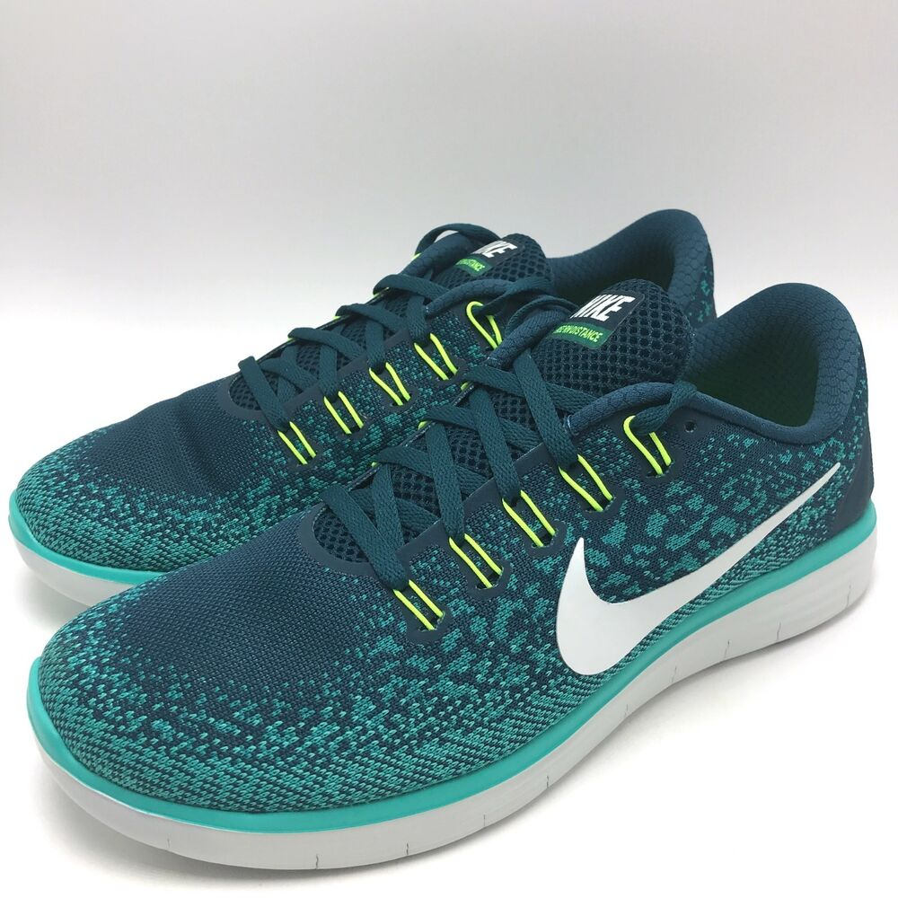 3880b577904a Details about Nike Free RN Distance Men s Running Shoes White Teal  827115-301