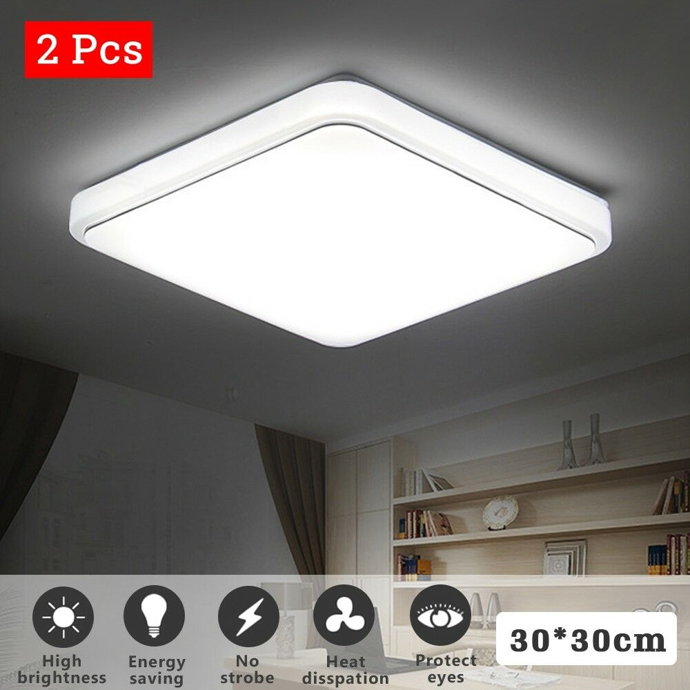 24w Led Dimmable Ceiling Light Round Flush Mounted Fixture: 24W LED Ceiling Down Light Dimmable Flush Mount Kitchen