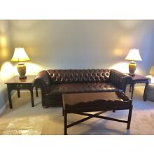 vintage chesterfield Couch/sofa. Living room Set.