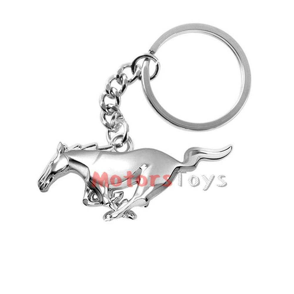 Details about Chrome Finish Horse Key Chain Fob Ring Keychain Key Fob  Holder For Ford Mustang 73ca554e4