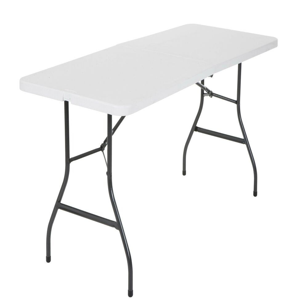 Cosco Centerfold Folding Table Home 6 Foot Portable Office