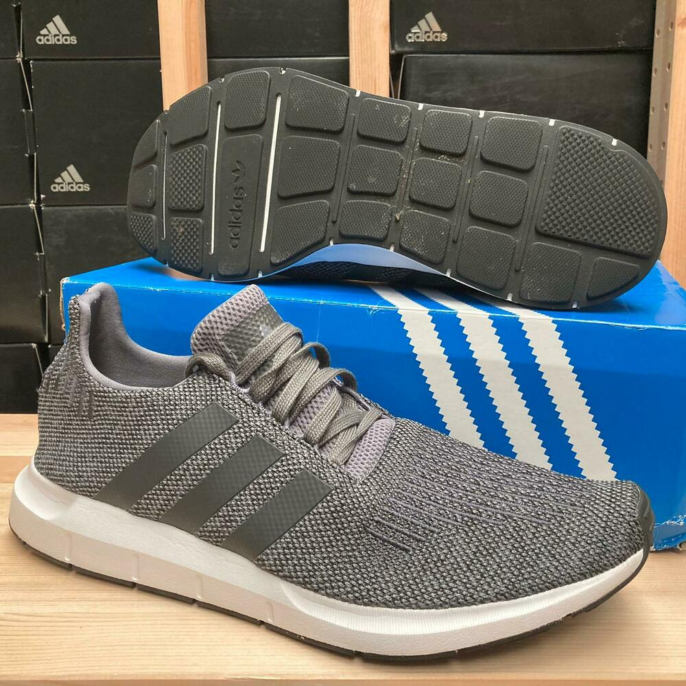 83d8c442a Details about adidas Originals Swift Run Trainers Mens Grey Black CG4116 ~  ALL Sizes 8-12