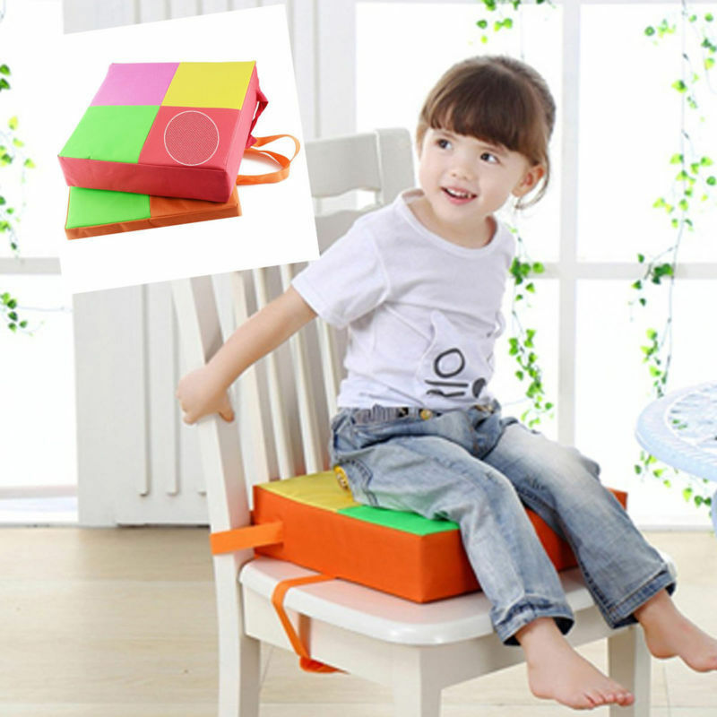 us demountable dining chair booster cushion mat seat kids seats booster orange 715973466486 ebay. Black Bedroom Furniture Sets. Home Design Ideas